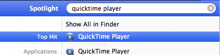 Quicktime From Spotlight