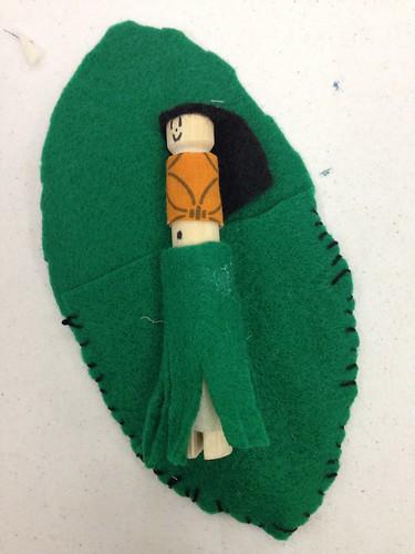 sewing 101 - leaf fairy dolls hula version