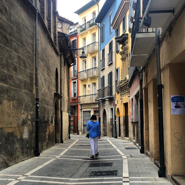 Getting lost in Pamplona. This is where the pilgrims of el camino de Santiago walk through in this part of Spain. Lovely stroll around the neighborhood! #elcaminodesantiago #pamplona #apain #travel