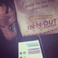...and for dinner. #InAndOutBurger #Starbucks #WiFi...not to eat; you can't EAT WiFi...unless...