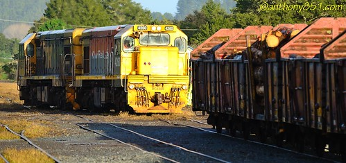 DC's 4565 and 4260 moving toward their train