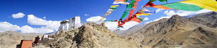 Indien, Trekking in Ladakh mit Stok Kangri. Tsemo Gompa oberhalb Leh. Foto: Christine Theodorovics.