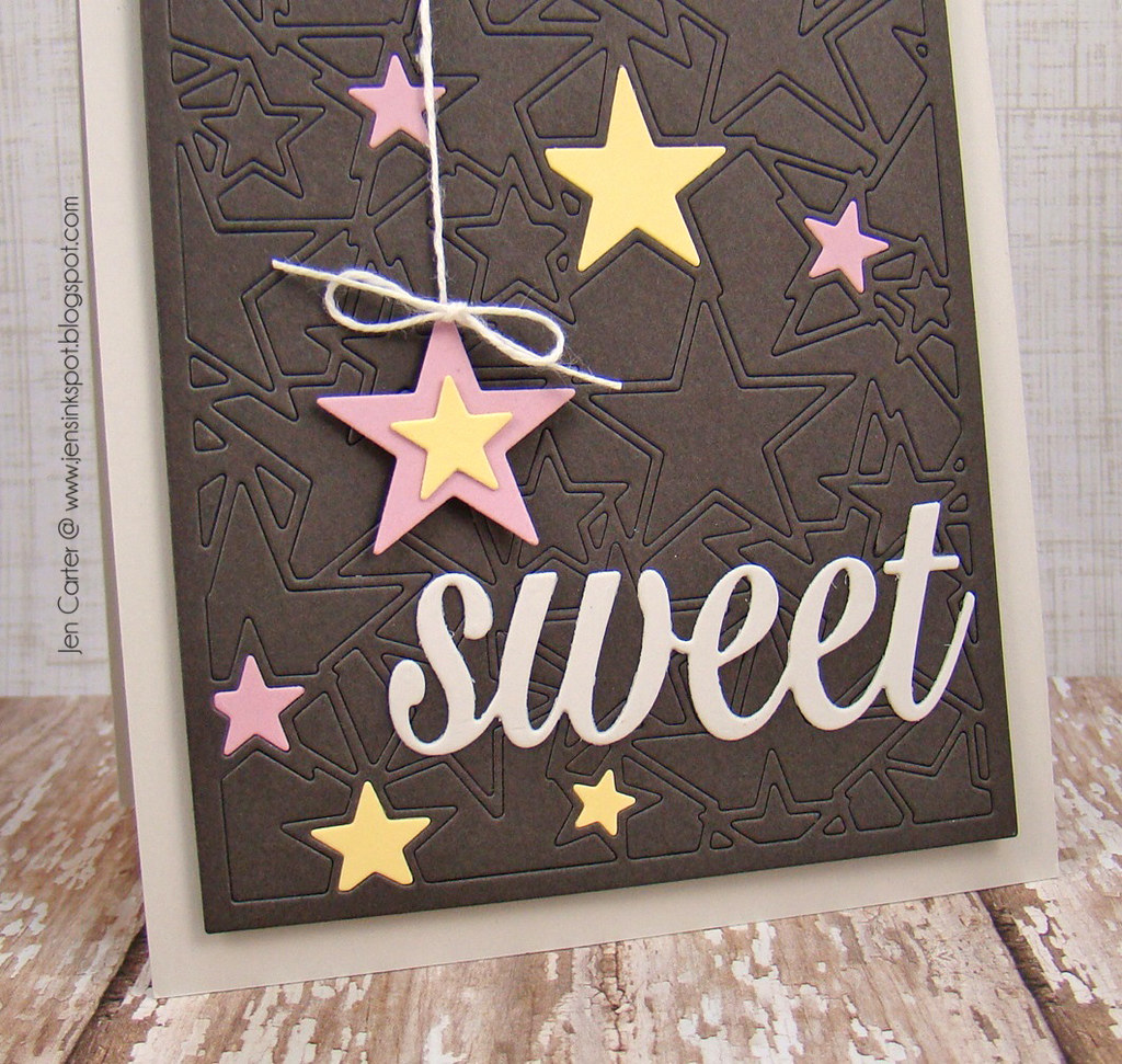 Jen Carter Frantic Stamper Sweet Star Card Panel Closeup