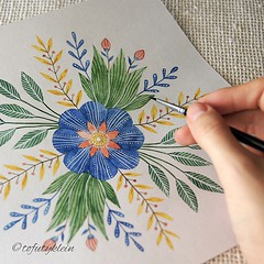 Morning Flowers Art Illustration Drawing Draw Waterco Flickr