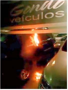 incêndio concessionária