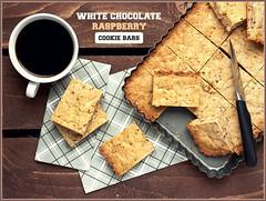 White Chocolate & Raspberry Cookie Bars