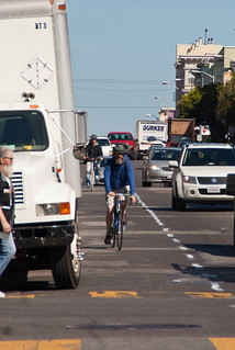22524 Southbound Polk St. bike lane preview from Pine back to California