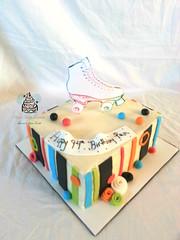 80's Themed Roller Skating Birthday Cake