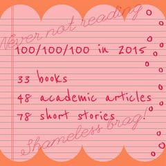 Progress on reading goals for 2015. Yes, I'm a little proud. #Nevernotreading