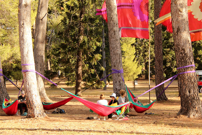 homeJames peeking in at the corner during hammocktime at WOMADelaide