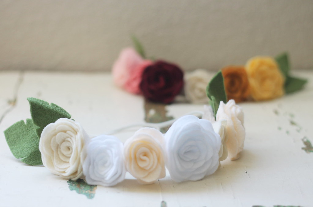 felt floral crowns