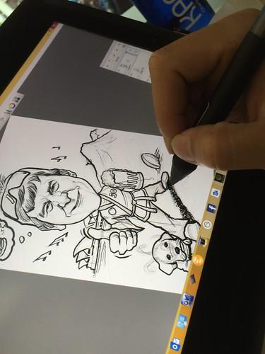 Digital caricature for International SOS on Wacom Cintiq Companion