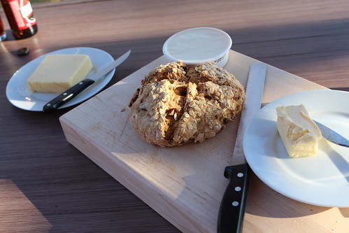 Irish Soda Bread and Kerrygold Butter Outside