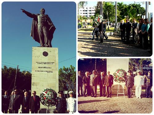 Acto conmemorativo 209 aniversario del natalicio de Benito Juárez, Rep. Dominicana
