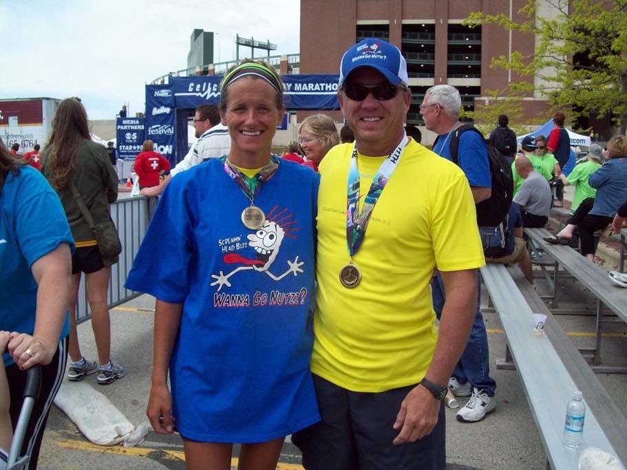 running the Green Bay Cellcom Marathon 2010