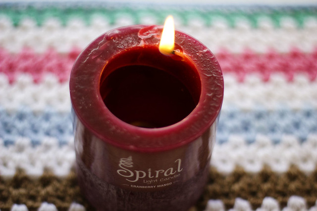 Spiral Light Candle