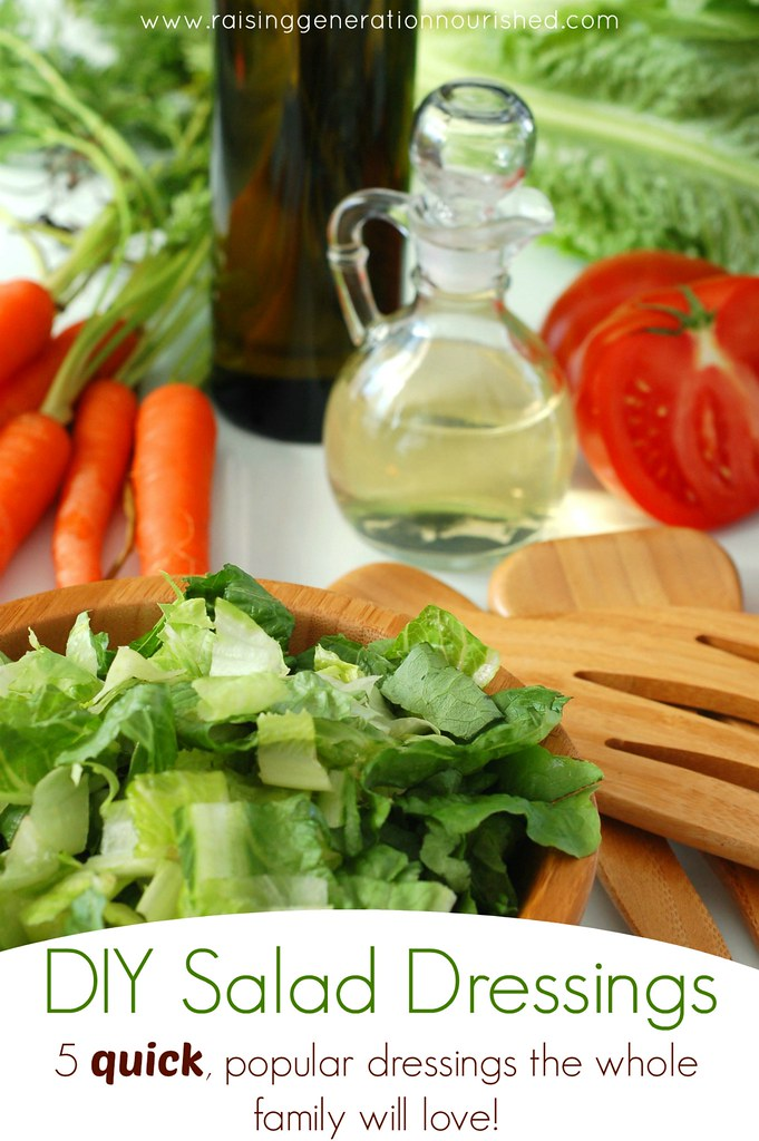 DIY Salad Dressings :: 5 Quick, Popular Dressings The Whole Family Will Love!