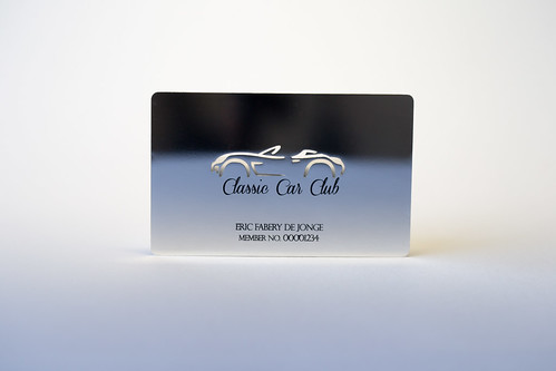 Silver plated member card