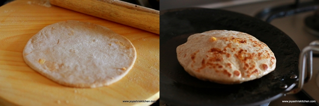 corn-cheese paratha