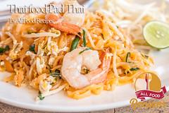 Thai food Pad thai , Stir fry noodles with shrimp…