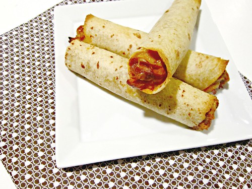 Raspberry Chipotle BBQ Chicken Taquitos 3