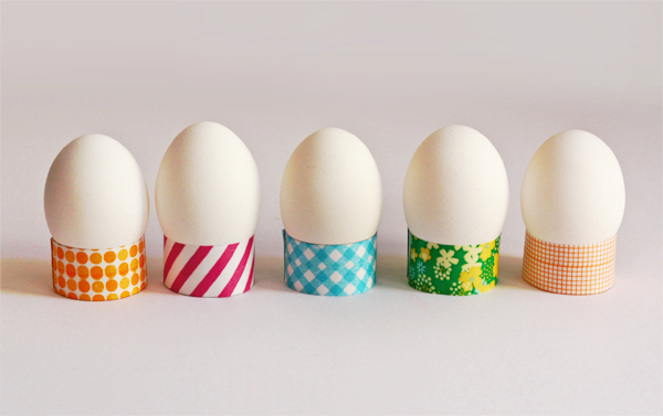washi tape egg holders