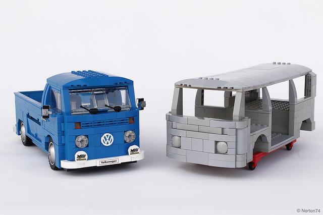 moc volkswagen t2 sandblasted bodywork lego technic. Black Bedroom Furniture Sets. Home Design Ideas
