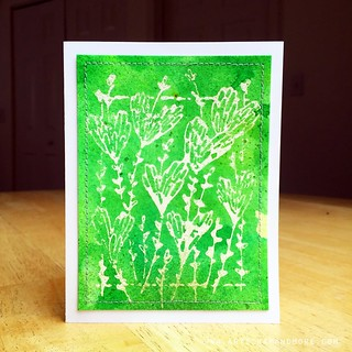 Penny Black - Stamping with Masking Fluid