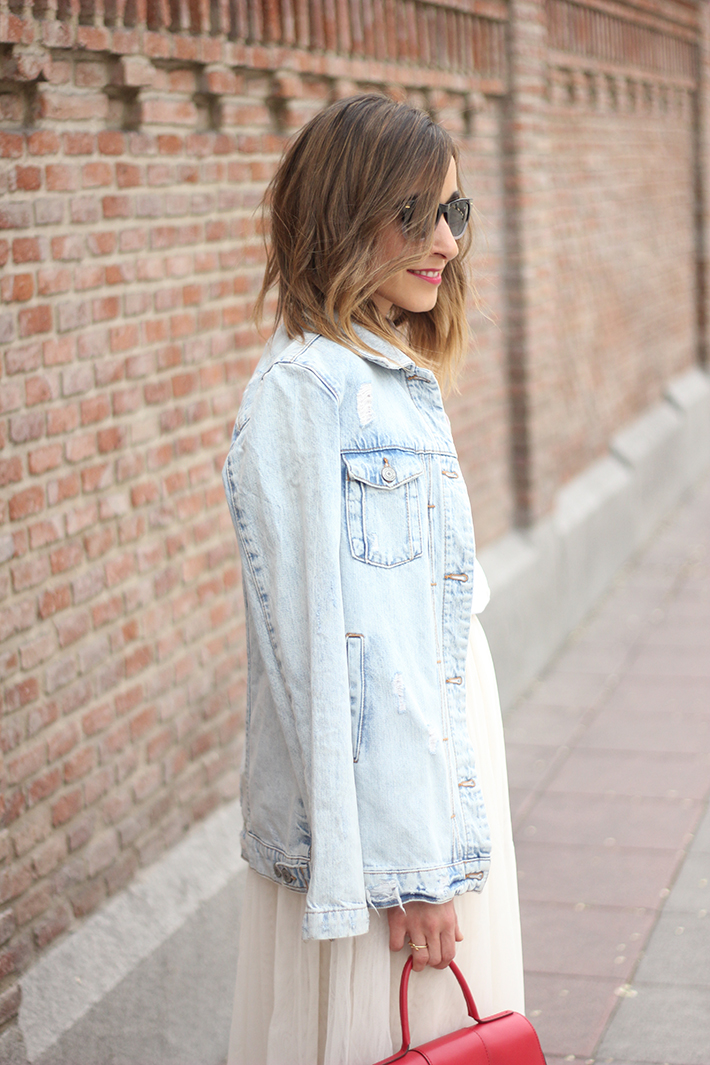 Tulle Skirt Denim Jacket09