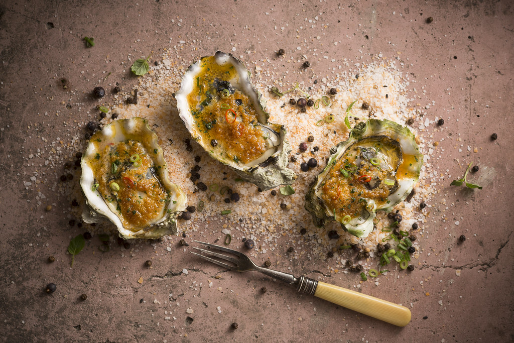 Baked Freshly Shucked Oysters $15
