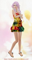 Entice  Linger Dress – Rainbow