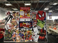 Free Comic Book Day Display at Papanui Library