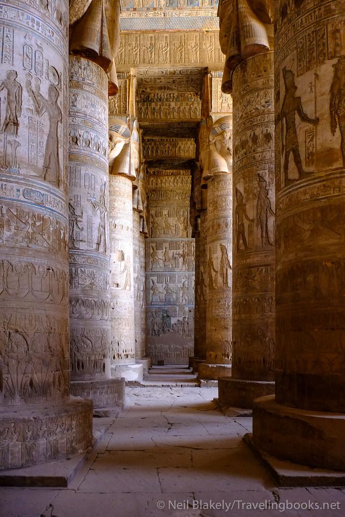 Pillars of Dendara Temple