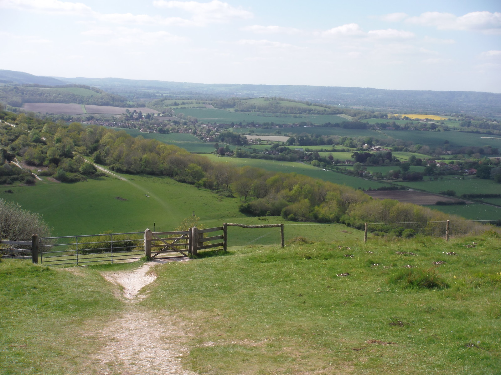 Descent from Beacon Hill, Upper Rother Valley on the right SWC Walk Rowlands Castle Circular - Extension
