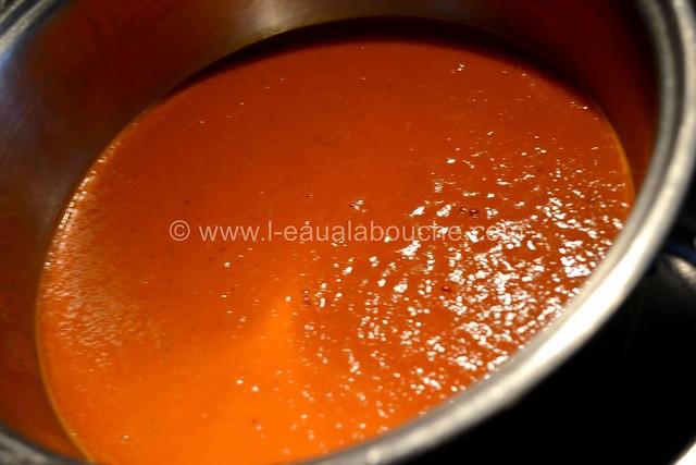 Velouté deTomate et sa Crème de Mozzarella au Basilic © Ana Luthi Tous droits réservés 10