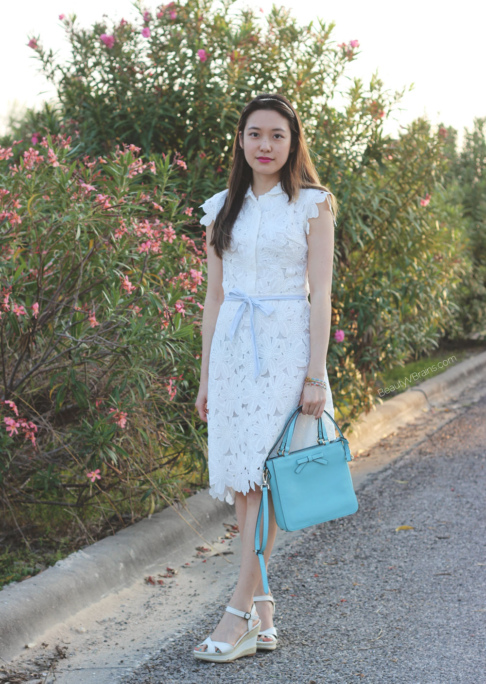 Chicwish white full floral overlay midi dress
