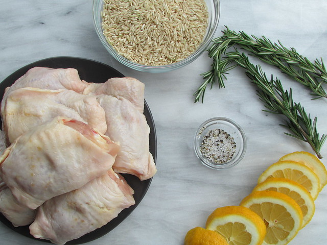 crispy chicken thighs with lemon and rosemary on twothirtyate.com