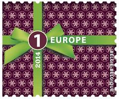 21b Noël Int timbre