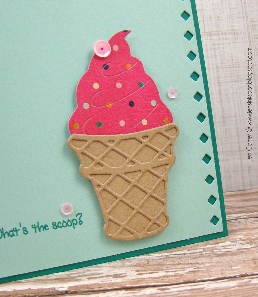 Jen Carter Ice Cream Cone Frantic Scoop Closeup