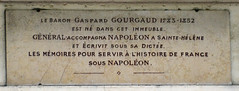 Photo of Gaspard Gourgaud marble plaque