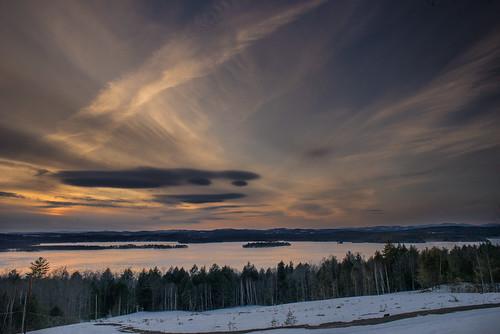 Sunset Over Androscoggin Lake