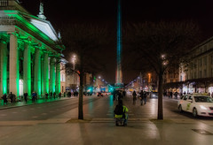 ST. PATRICK'S SPIRE OF LIGHT ON O'CONNELL STREET IN DUBLIN REF-102056