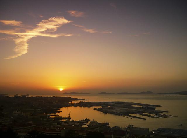 Sunset over Vigo