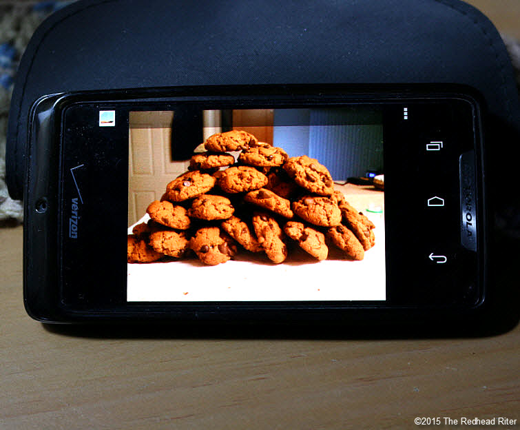 cell phone chocolate chip cookie Modern Technology Connects Across The Miles 2
