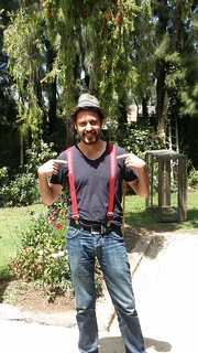 Wearing my 'Suspend your judgment' suspenders provided by Community at Work (Credits: EIB)