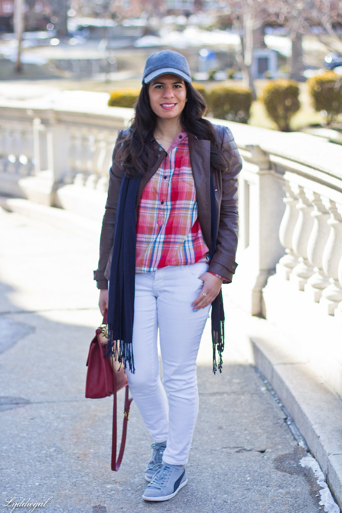 Jachs plaid shirt, white denim, grey trainers, leather jacket-4.jpg