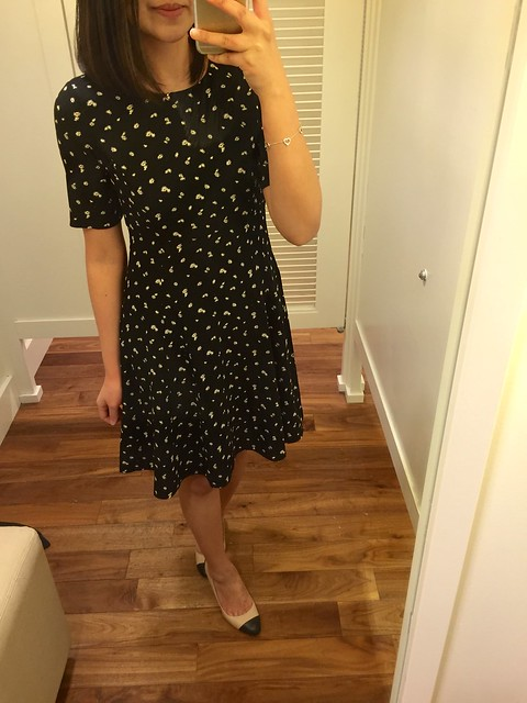 Ann Taylor Mini Daisy Flare Dress, size 00P