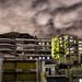 Cloudy urban night