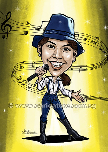 digital singer caricature for Property Guru (watermarked)