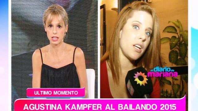 Agustina Kämpfer al Bailando 2015